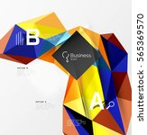 3d polygonal object triangles ... | Shutterstock .eps vector #565369570
