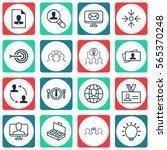 set of 16 business management... | Shutterstock . vector #565370248
