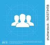 group of people icon.  | Shutterstock .eps vector #565373458