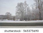 Bilateral Winter Snowy Road In...