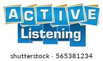 active listening blue squares... | Shutterstock . vector #565381234