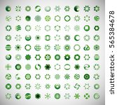circle icons set isolated... | Shutterstock .eps vector #565384678