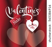 valentines day sale beautiful... | Shutterstock .eps vector #565386916