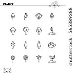 plant flat icon set. collection ... | Shutterstock .eps vector #565389388