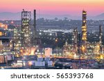 oil and gas industry refinery... | Shutterstock . vector #565393768
