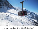 chamonix  france  cable car... | Shutterstock . vector #565394560