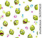 funny seamless pattern with... | Shutterstock .eps vector #565395610