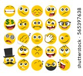 set of emoticons with different ... | Shutterstock .eps vector #565397638