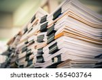 stack of paper files | Shutterstock . vector #565403764