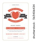 happy valentines day party... | Shutterstock .eps vector #565406434