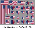 american flags and banners. big ... | Shutterstock .eps vector #565412188