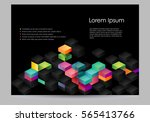 brochure template with colorful ... | Shutterstock .eps vector #565413766