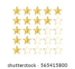 one to five gold star ratings  | Shutterstock .eps vector #565415800