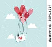 heart sharped balloons...   Shutterstock .eps vector #565416319