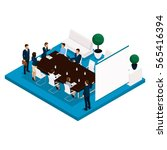 trend isometric people  a room  ... | Shutterstock .eps vector #565416394