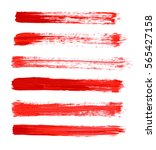 red vector strokes of paint on... | Shutterstock .eps vector #565427158