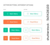 action buttons. different... | Shutterstock .eps vector #565428103