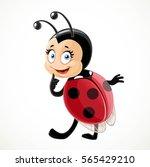flirtatious little ladybug... | Shutterstock .eps vector #565429210