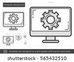 computer settings vector line... | Shutterstock .eps vector #565432510