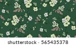 seamless floral pattern in... | Shutterstock .eps vector #565435378