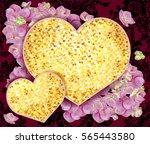 vector valentine's day card... | Shutterstock .eps vector #565443580