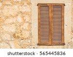 rustic brown wooden window... | Shutterstock . vector #565445836