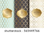 golden vintage pattern. vector... | Shutterstock .eps vector #565449766