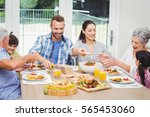 smiling multi generation family ... | Shutterstock . vector #565453060