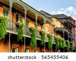 balcony with plants 12 in the... | Shutterstock . vector #565455406