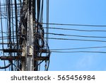 electric pole | Shutterstock . vector #565456984