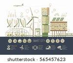 smart city vector illustration... | Shutterstock .eps vector #565457623