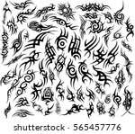 Tribal Tattoo Design Elements Set