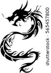 tribal dragon tattoo design... | Shutterstock .eps vector #565457800