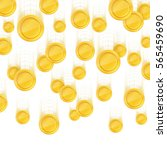 gold coins falling down. vector ... | Shutterstock .eps vector #565459690