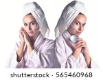 perfect skin woman image   two... | Shutterstock . vector #565460968