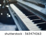 Vintage Old Piano. Close Up Of...