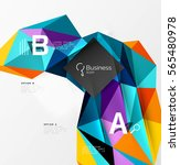 low poly polygonal triangle... | Shutterstock .eps vector #565480978