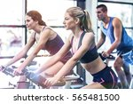 fit people working out at... | Shutterstock . vector #565481500