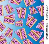 pattern of cakes.cake isolated... | Shutterstock .eps vector #565481614
