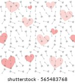 arrows and hearts vector... | Shutterstock .eps vector #565483768