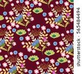 flower pattern | Shutterstock .eps vector #565484494