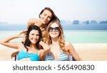 summer holidays  travel  people ... | Shutterstock . vector #565490830