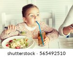 childhood  food and people... | Shutterstock . vector #565492510