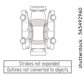 car sedan  drawing outline  | Shutterstock .eps vector #565492960