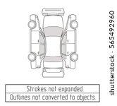 car sedan  drawing outline  | Shutterstock .eps vector #565492960