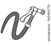 water spray gun with hose... | Shutterstock .eps vector #565493770