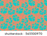 seamless tropical flowers in... | Shutterstock . vector #565500970