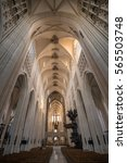 Small photo of Leuven, Belgium - January 03, 2017: Airy and bright interior of St. Peter's Church