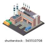 modern isometric industrial... | Shutterstock .eps vector #565510708