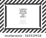 black and white modern border... | Shutterstock .eps vector #565519918